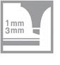zvýrazňovač 1-3 mm