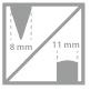 voskovka 8 mm, 11mm